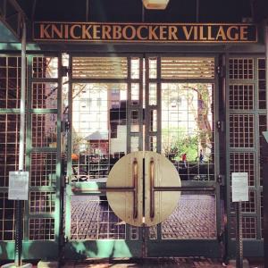 Knickerbocker Village courtyard, photo by Molly Garfinkel
