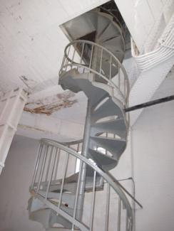 Clock Tower Building, spiral stairs leading to the clock works, photo by Molly Garfinkel