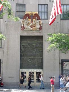 Rockefeller Center, photo by Eleanor Koffler